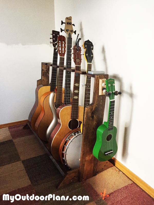 Diy Multi Guitar Wood Stand Myoutdoorplans Free