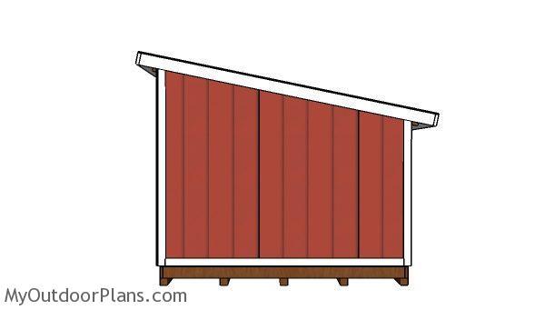 10x12 lean shed plans myoutdoorplans free, 10x12 pergola roof plans