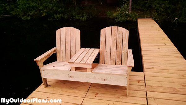 Diy Adirondack Bench With Table Myoutdoorplans Free