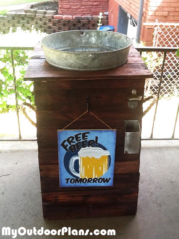 Diy Galvanized Ice Bucket Beer Stand Myoutdoorplans
