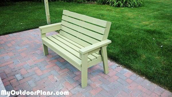 Diy 2x4 Simple Garden Bench Myoutdoorplans Free