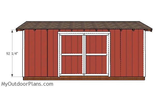 8x20 Gable Shed Doors Plans MyOutdoorPlans Free
