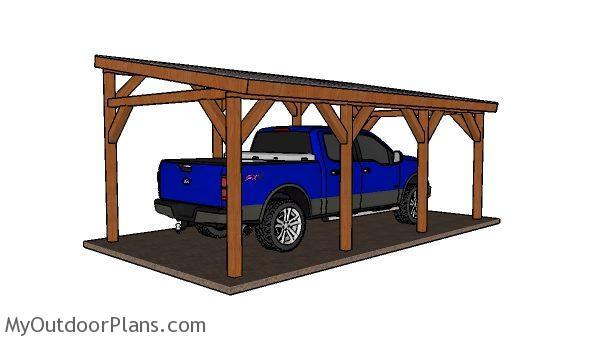 12x24 Do It Yourself Lean To Carport Plans Myoutdoorplans Free