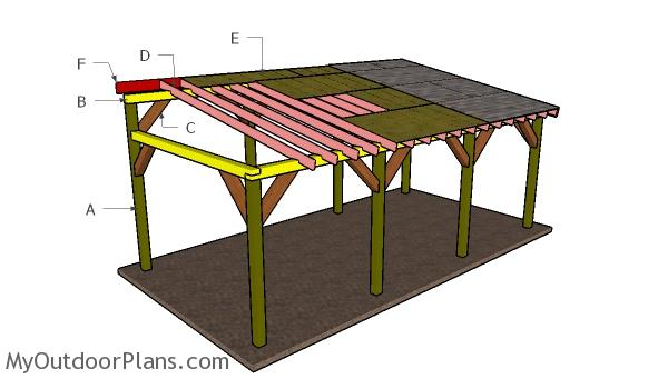 12x24 Do It Yourself Lean To Carport Plans Myoutdoorplans Free