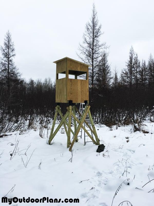 Diy 4x4 Deer Stand Myoutdoorplans Free Woodworking