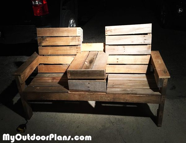 Diy Pallet Double Chair Bench With Table Myoutdoorplans