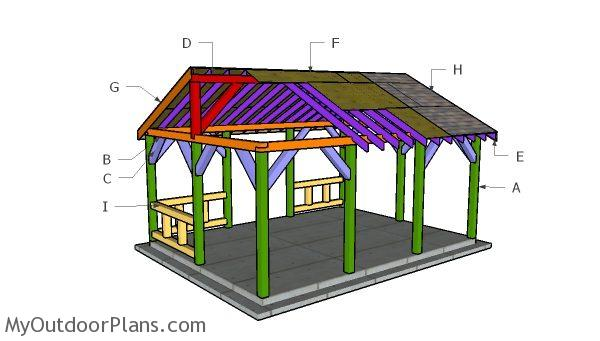 15x20 Pavilion Roof Plans Myoutdoorplans Free