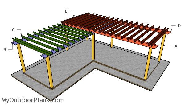 L Shaped Pergola Plans Myoutdoorplans Free Woodworking