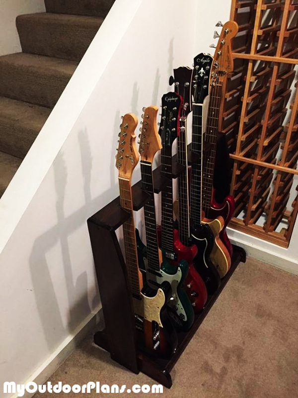 Diy Espresso Guitar Stand Myoutdoorplans Free