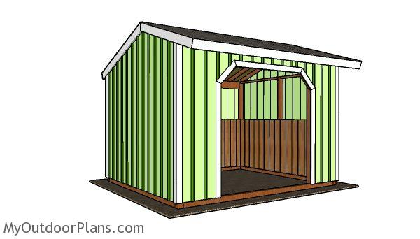 10x12 Run In Shed Plans Myoutdoorplans Free
