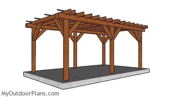 12x20 Pergola Plans Myoutdoorplans Free Woodworking