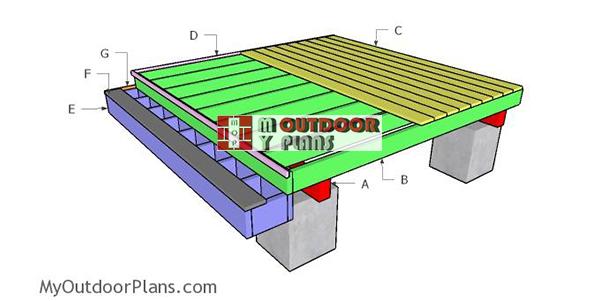 8x8 deck plans myoutdoorplans free