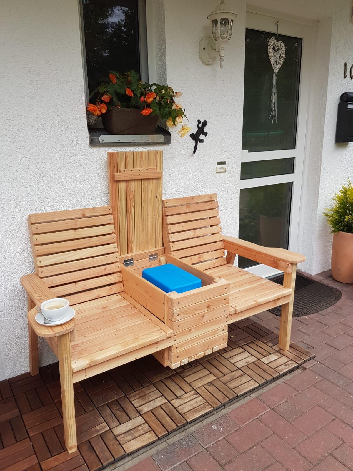 Diy Double Chair Bench With Cooler Myoutdoorplans Free