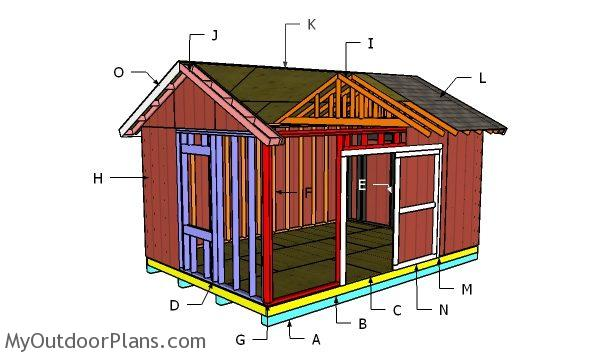 12x18 Gable Shed Roof Plans Myoutdoorplans Free