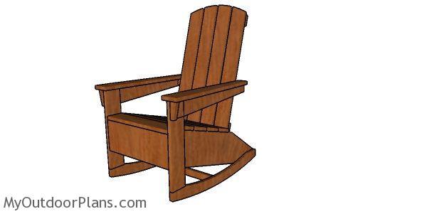 Adirondack Rocking Chair Plans Myoutdoorplans Free