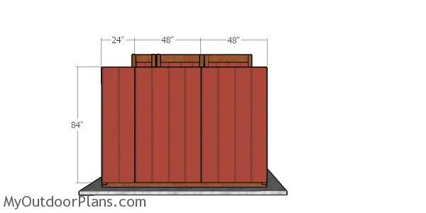 Shed Wall Framing Diagram Front