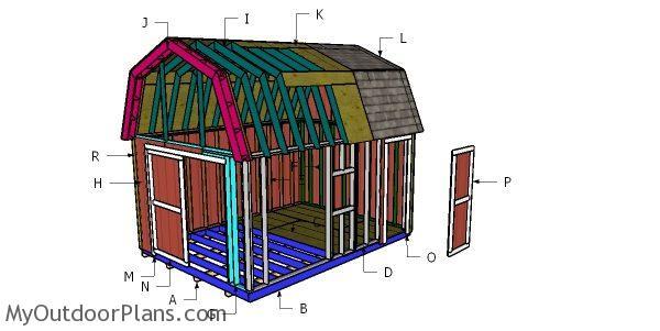 12x16 Barn Shed Roof Plans Myoutdoorplans Free