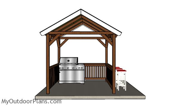 8x8 Grill Gazebo Plans MyOutdoorPlans Free Woodworking Plans And Projects DIY Shed Wooden