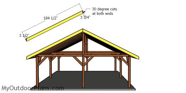 24x24 Pavilion Roof Plans Myoutdoorplans Free