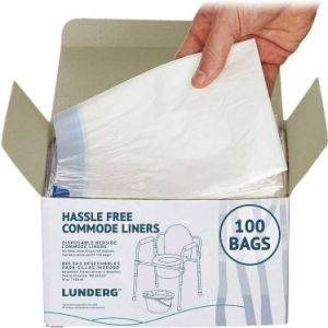 Lunderg Portable Commode Liner Bags - Best Disposable Camping Toilet Bags