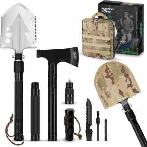 Pathway North Survival Shovel and Camping Axe - best camping multi tool axe