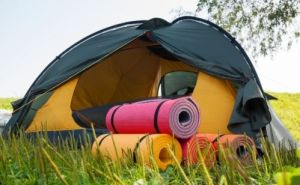 Camping Sleeping Pad in a tent