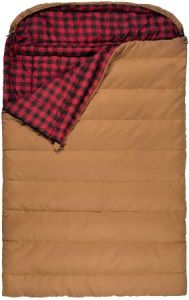 Teton Sports Mammoth Flannel Lined Double Sleeping Bag - Best Canvas Flannel Sleeping Bag