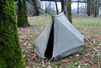 Tarp Camping: Old Tent Setup That Still Gets the Job Done