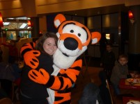 Tigger, Mickey's Café, December 2012