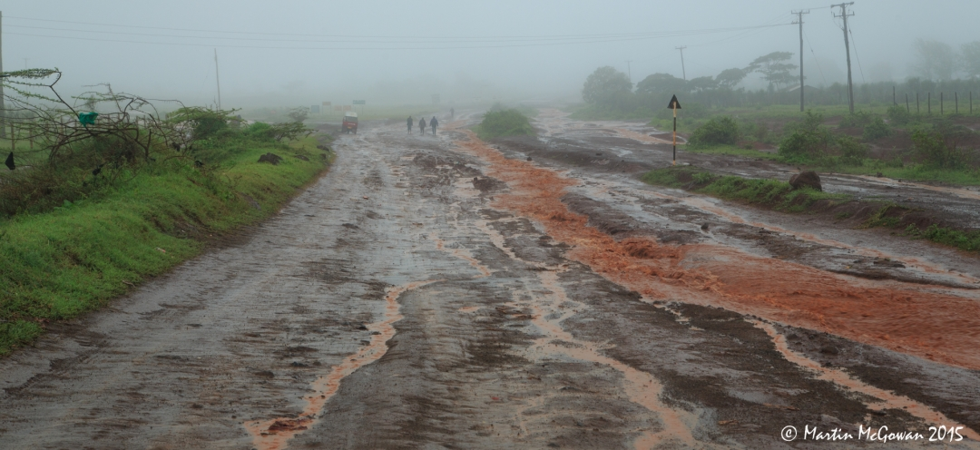 The road leaving Marsabit