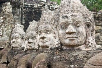 Faces at Angkor Thom South Gate