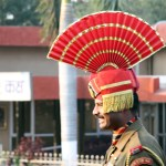 Wagah Border closing ceremony - Indian Guard