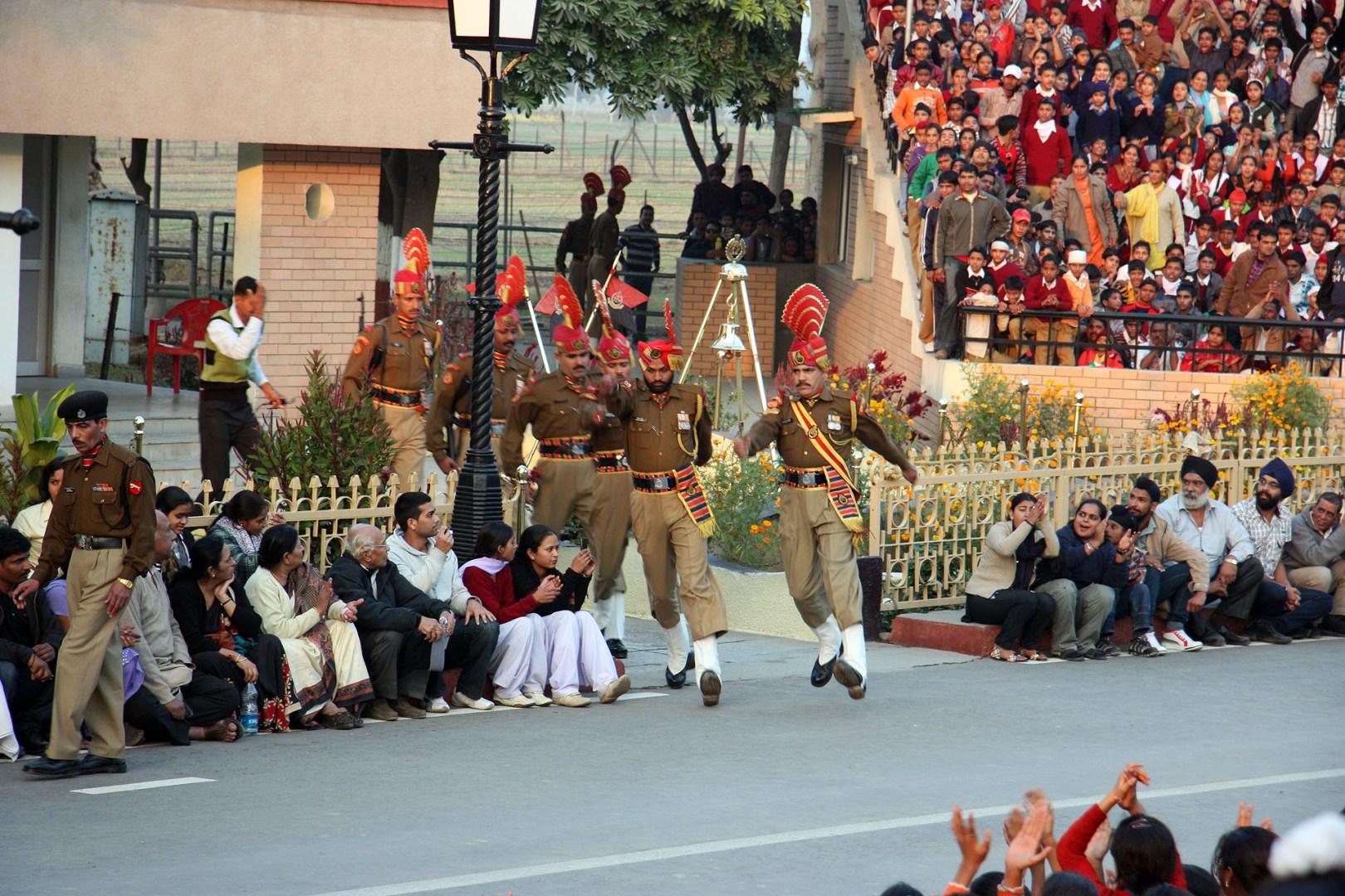 Indian Men rushing out
