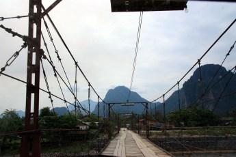 Long Wooden Bridge - Vang Vieng
