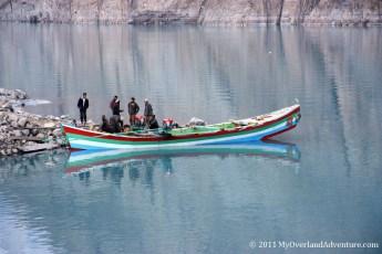 Attabad Lake - Local  Boat