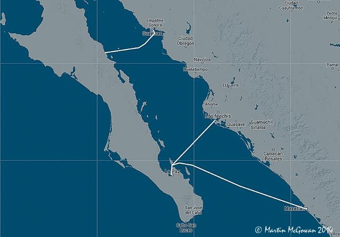 Baja Ferries between La Paz Mazatlan & Topolobampo