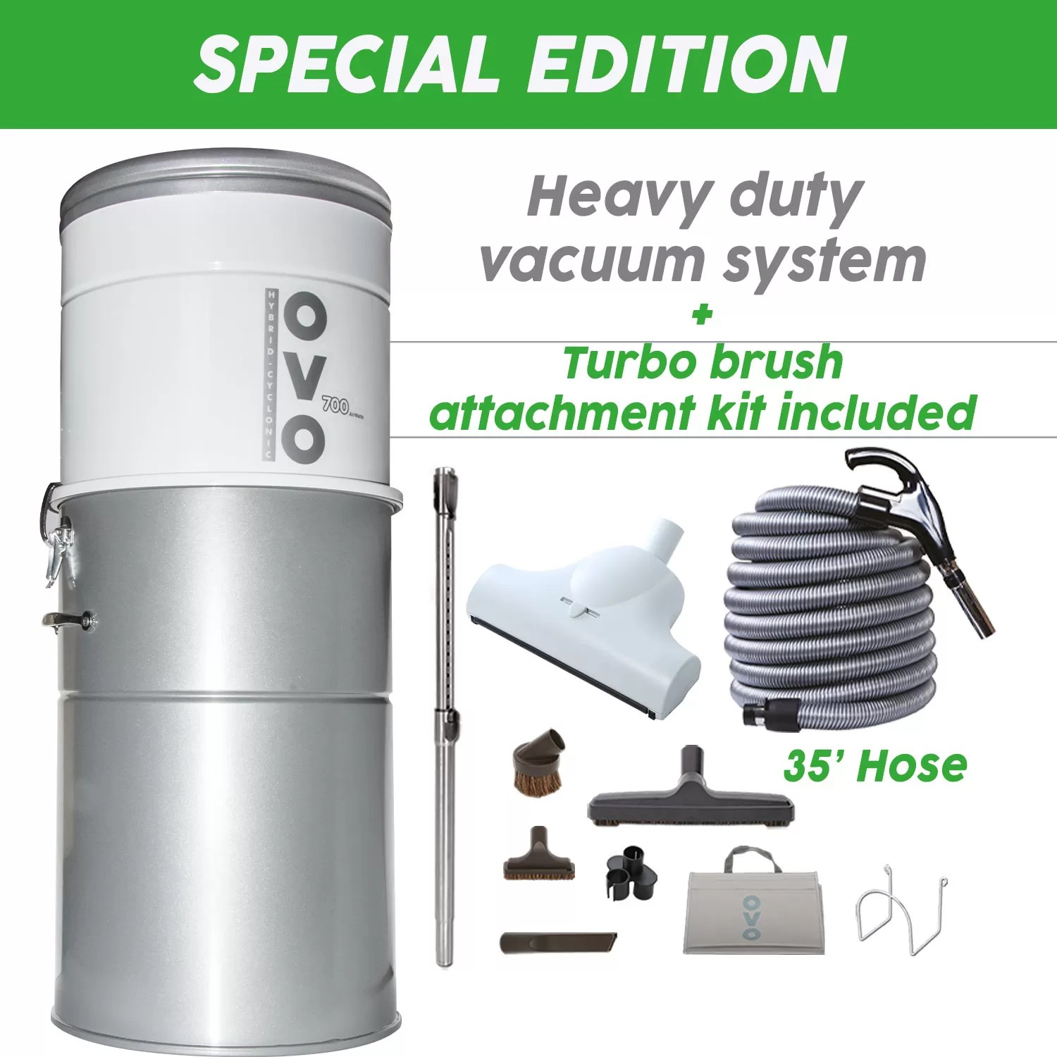 Best central vacuum and turbo kit