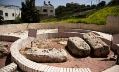 Old caves on jewish cemetery of jewish Hebron quater