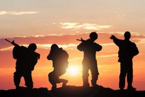 Battlefield, soldiers