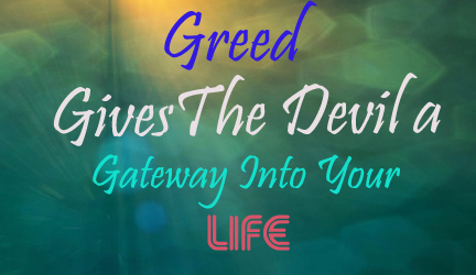 Greed gives the Devil 198807