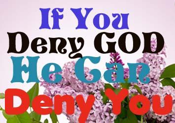 Denying God back 3175322192077