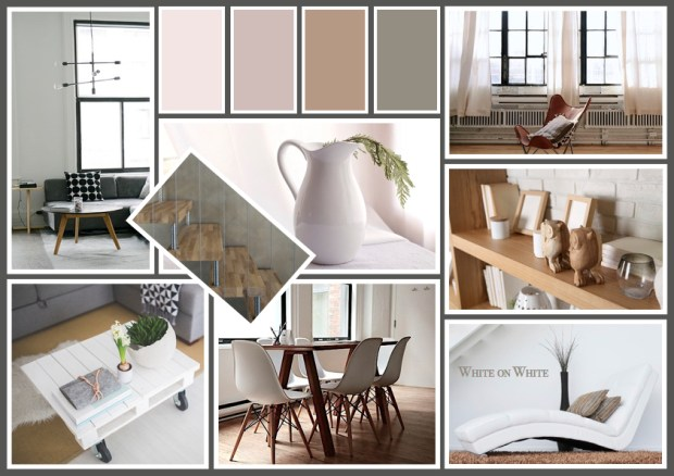 "Mood board – Bolig: ""White on White"""