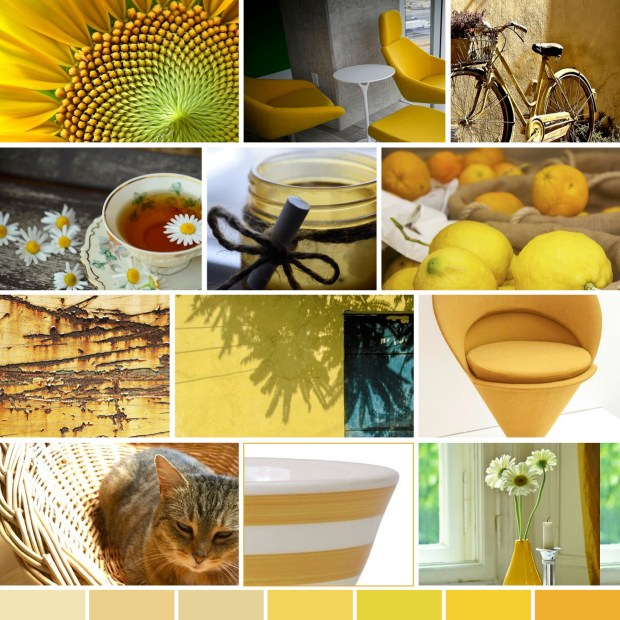 "Mood Boards – Bolig: ""Gule løjer""/Interior Design: ""Yellow Yapping"""