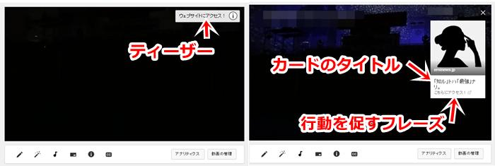 Youtubeカードの詳細