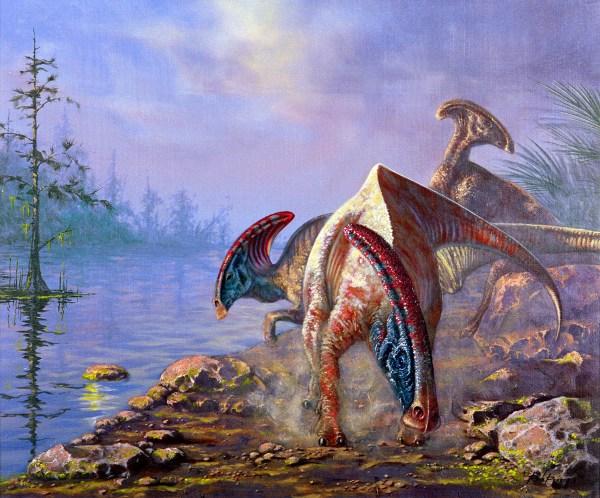 Thomas Kinkade Art Dinosaur