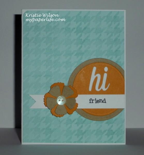 Card 1 - MFTWSC165 Happy Hellos