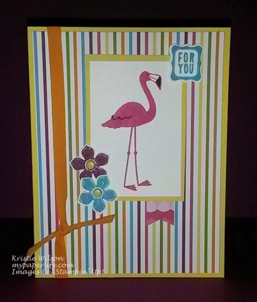 Card 25-June 2014 Sweet Taffy Flamingo Lingo