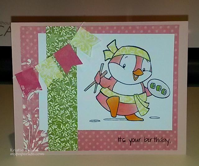 Card 3- Sugar Pea Court Bday