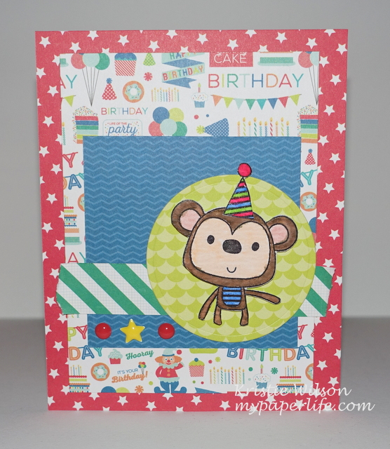 2015 Card 39 - Reverse Confetti Monkey Business