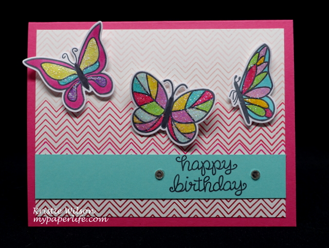 2015 Card 91 - Lawn Fawn Flutter By